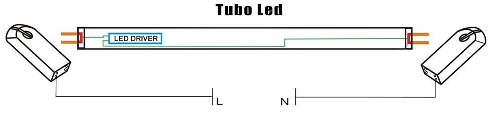 Schema Elettrico Neon A Led : Plafoniera stagna doppio tubo led t cm