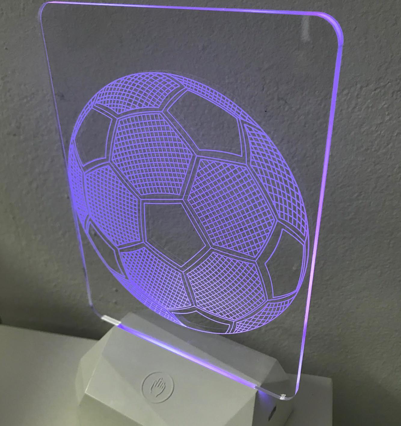 3D Acrilico Forma Rettangolare Figura Calcio (3DB911) - PZ