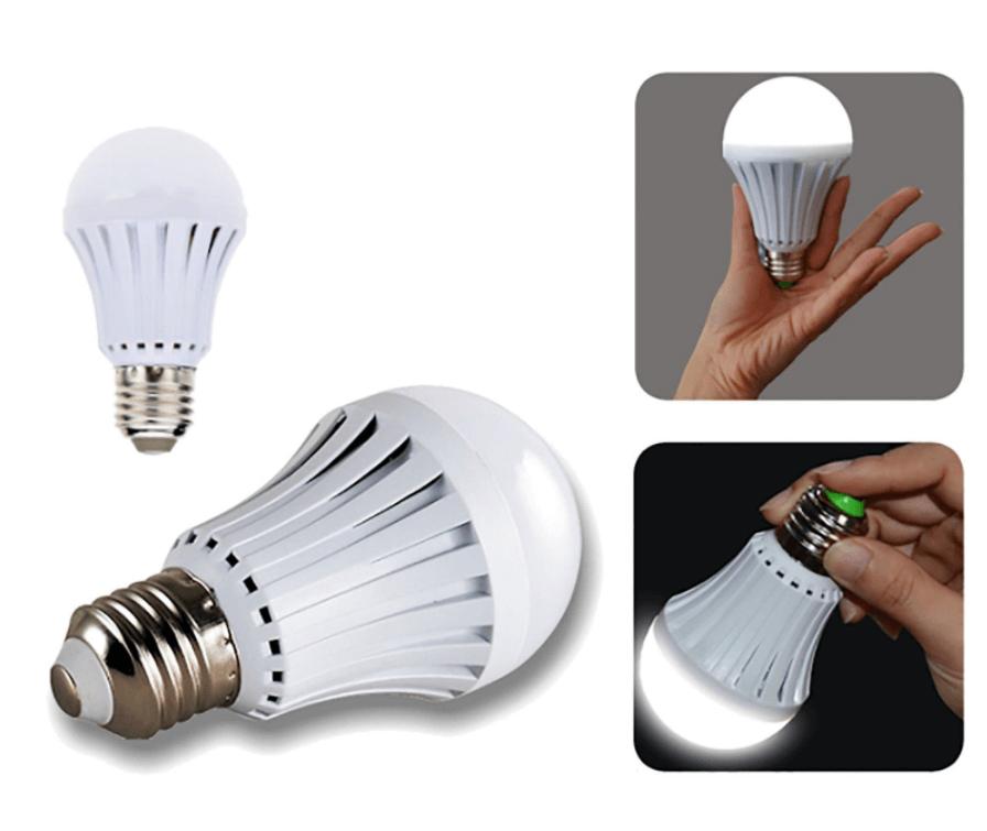 2 Lampade Led E27 G80 Luce Emergenza 9W Ricaricabile Intelligente Anti Blackout