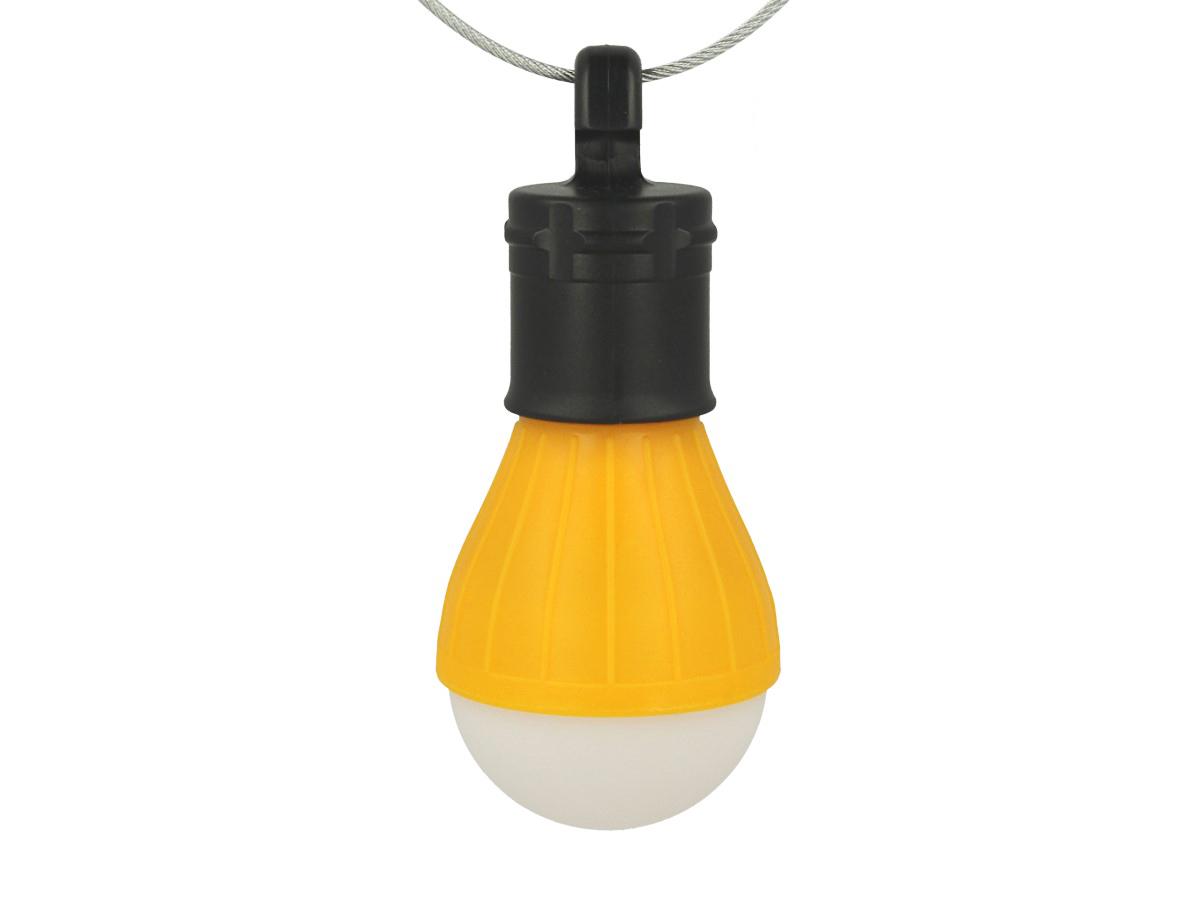 2 Lampada Led Con Gancio Interruttore Per Campeggio 3 Modalita Pile AAA Escluse