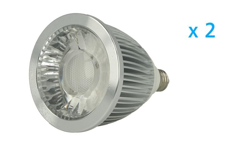 2 PZ Lampade Faretto Led E10 5W 220V Cob Bianco Caldo Diametro 50mm Altezza 69mm