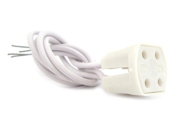 2 PZ Portalampade Adattatori Lampada Attacco G10q Neon Circolare Per Fare Test Resistenza e Durata - BUSTA