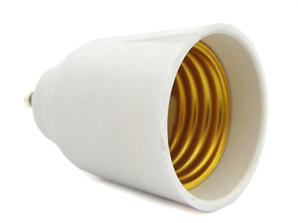 2 PZ Convertitore Adattatore Portalampada Per Lampada Attacco Da GU10 a E27 - BUSTA