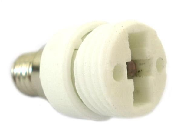 2 PZ Convertitore Adattatore Portalampada Per Lampada Attacco Da E14 A G9 - BUSTA