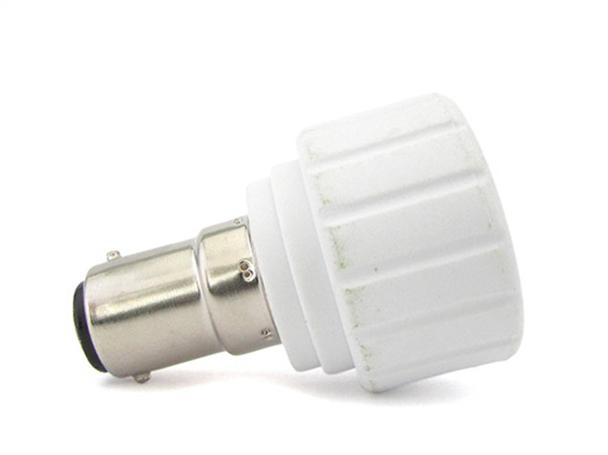 2 PZ Convertitore Adattatore Portalampada Per Lampada Led Attacco Da BA15D A GU10 - BUSTA