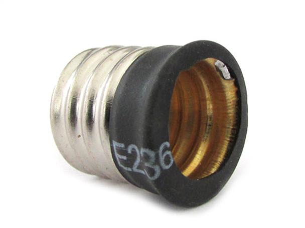 2 PZ Convertitore Adattatore Portalampada Per Lampada Led Attacco Da E17 A E14 - BUSTA