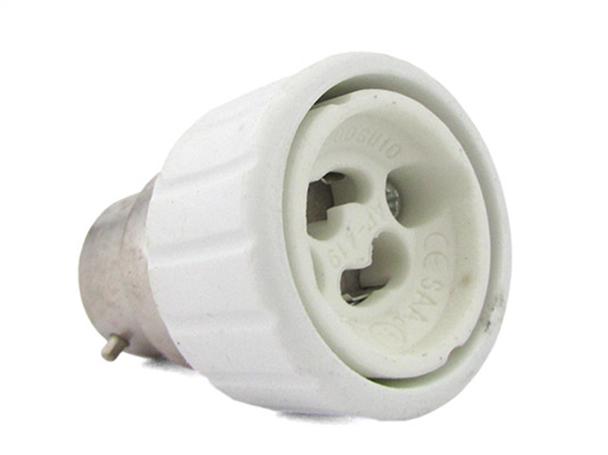 2 PZ Convertitore Adattatore Portalampada Per Lampada Led Attacco Da B22 A GU10 - BUSTA
