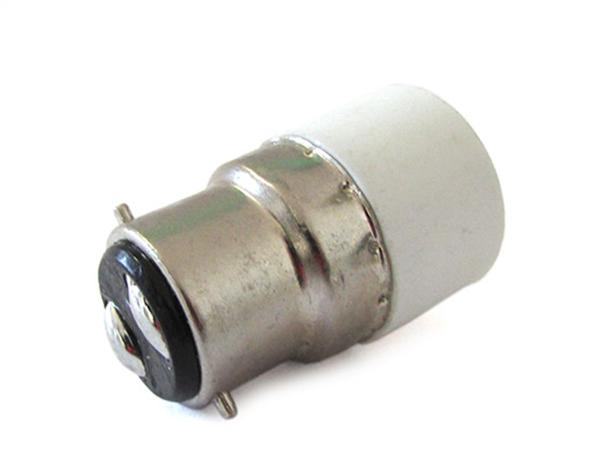 2 PZ Convertitore Adattatore Portalampada Per Lampada Led Attacco Da B22 A E14 - BUSTA