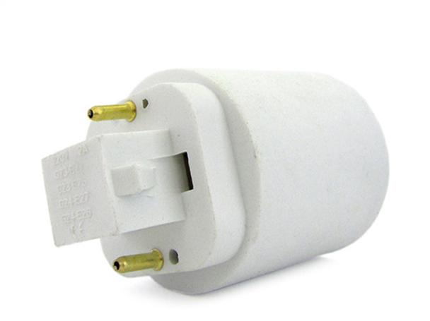2 PZ Convertitore Adattatore Portalampada Per Lampada Attacco Da G23 2 Pin A E27 - BUSTA