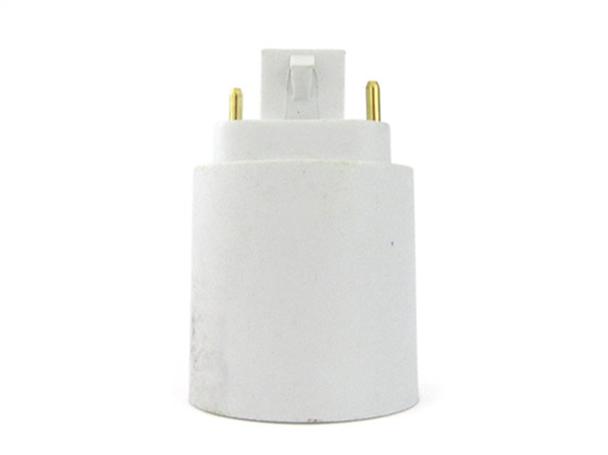 2 PZ Convertitore Adattatore Portalampada Per Lampada Attacco Da G24 2 Pin A E27 - BUSTA