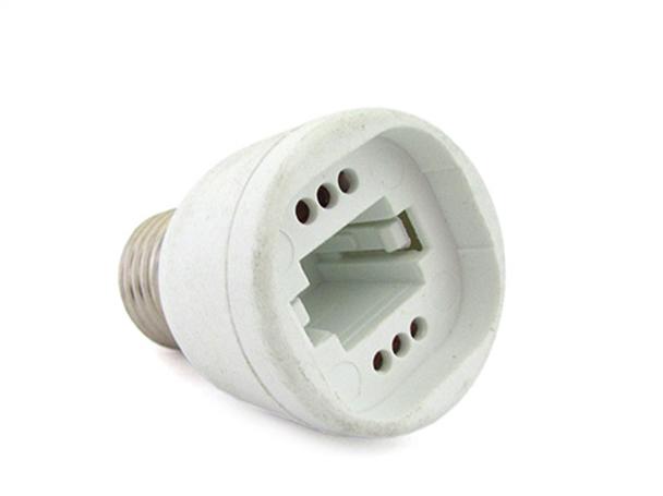 2 PZ Convertitore Adattatore Portalampada Per Lampada Attacco Da E27 A G24 PLC - BUSTA