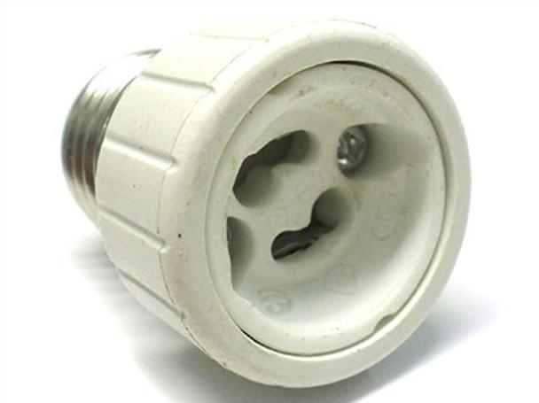 2 PZ Convertitore Adattatore Portalampada Per Lampada Attacco Da E27 A GU10 - BUSTA