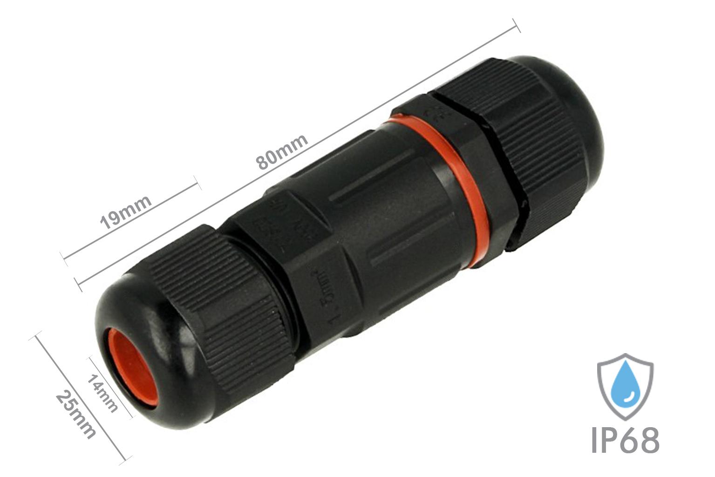 Connettore Giunta Di Connessione Lineare IP68 3 Pin Per Cavo Elettrico 6-12mm Im