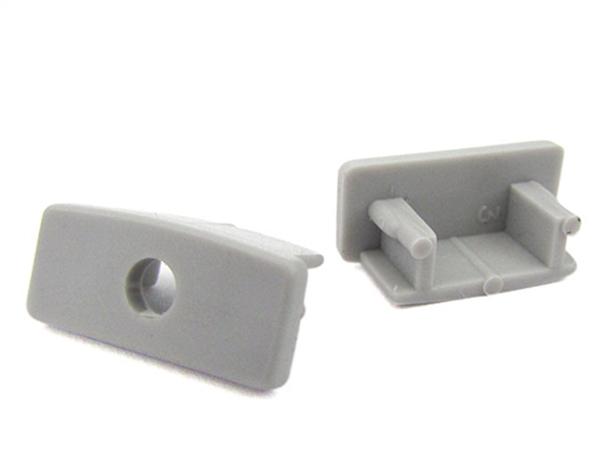 Coppia Tappi Tappini Termine Per Chiusure Profilo Barra In Alluminio Rigida Quadrata BA3200 - PAIO
