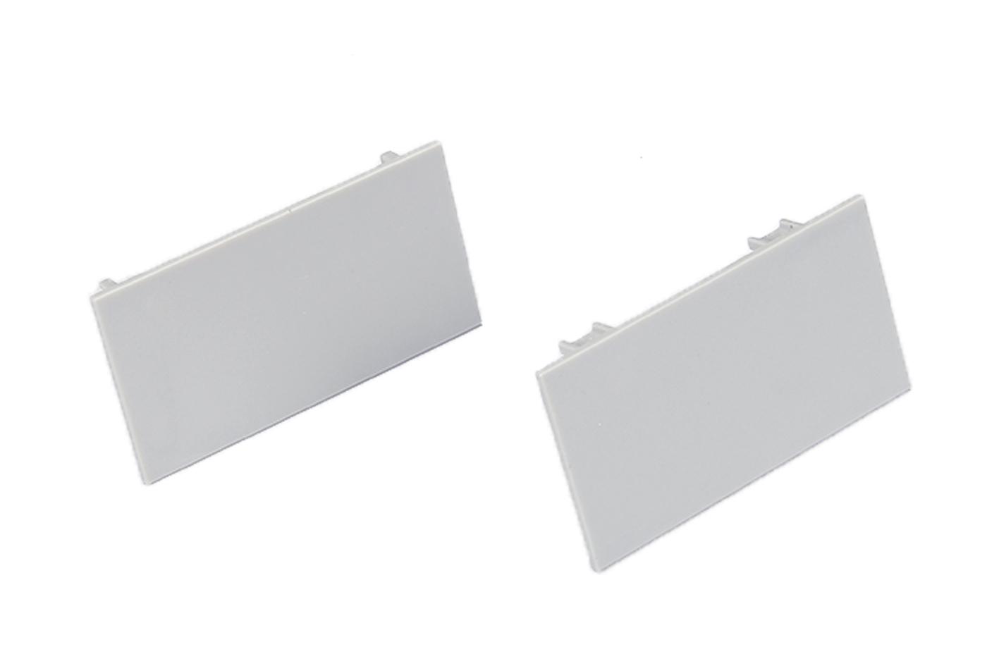 Coppia Tappi Tappini Termine Per Chiusure Profilo Barra Alluminio Da Parete Luce Indiretta BA0006 - PAIO