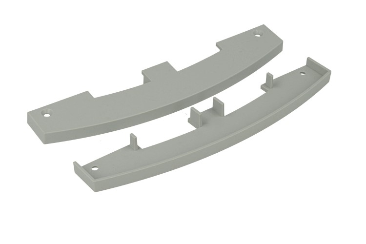 Coppia Tappi Tappini Termine Per Chiusure Del Profilato Alluminio BA1537 - PAIO