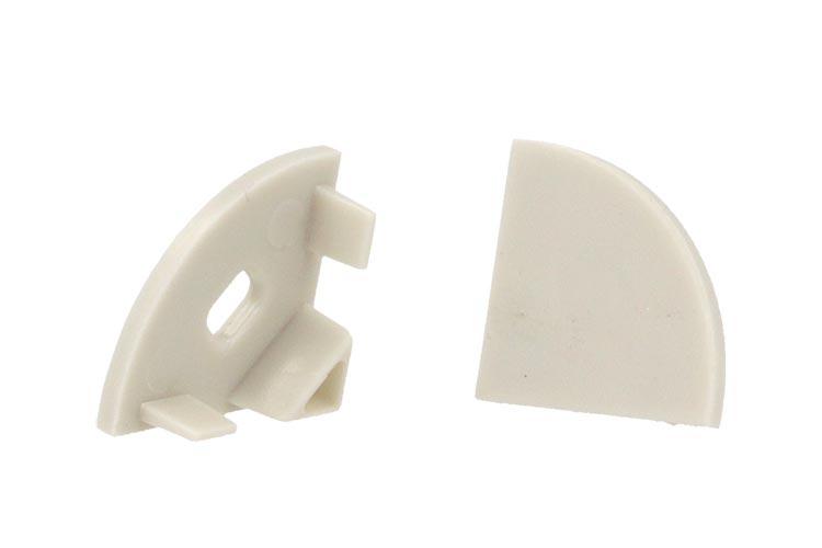 Coppia Tappi Tappini Termine Per Chiusure Profilo Alluminio Angolare Slim BA1616 Tondo - PAIO