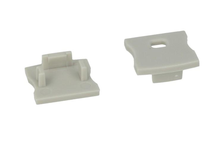 Coppia Tappi Tappini Termine Per Chiusure Profilo Barra Alluminio Quadrato Profondo BA1715 - PAIO