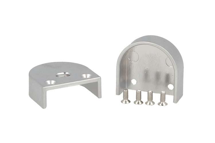 Coppia Tappi Tappini Termine Per Chiusure Profilo Alluminio BA1814 e Diffusore Opale Rotondo BA3342 - PAIO