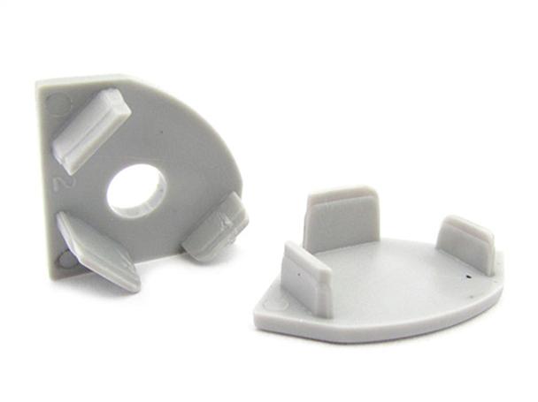 Coppia Tappi Tappini Termine Per Chiusure Profilo Barra Alluminio Angolare BA1919 - PAIO