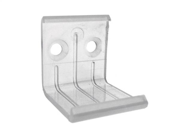 Clip Guida Gancio PC Per Fissaggio a Muro Del Profilo Barra Alluminio Angolare BA1919 - PZ