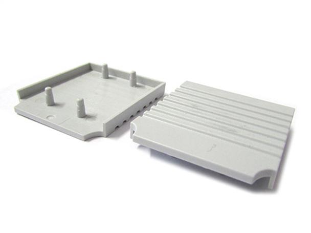 Coppia Tappi Tappini Termine Per Chiusure Profilo Alluminio Da Parete Del Specchiera Bagno BA2001 - PAIO