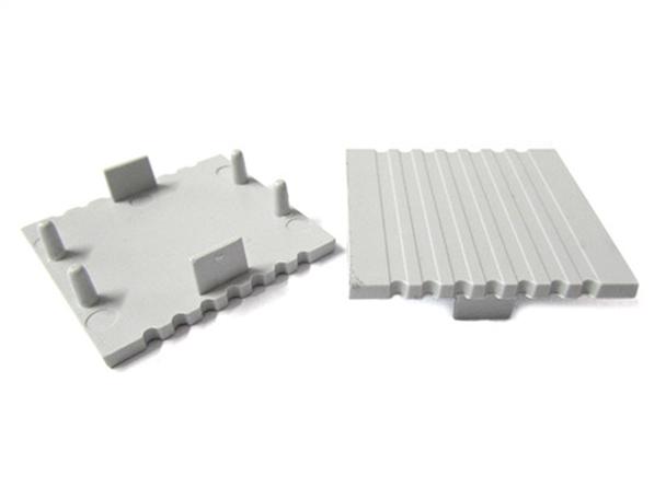 Coppia Tappi Tappini Termine Per Chiusure Del Profilo Barra Guida Alluminio BA2088 - PAIO