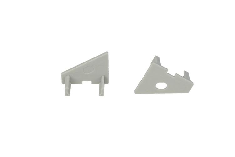 Coppia Tappi Tappini Termine Per Chiusure Profilato Alluminio Angolare Curva 30 Gradi BA2016 - PAIO