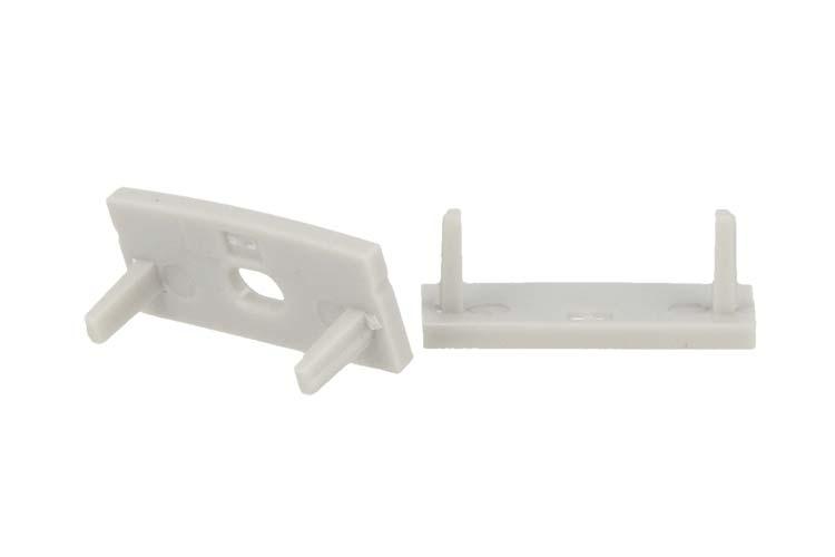 Coppia Tappi Tappini Termine Per Chiusure Profilo Barra Alluminio Larga Da 20mm BA2310 - PAIO