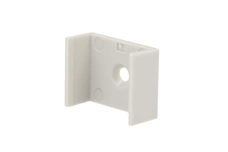 Clip Guida Gancio PC Per Fissaggio a Muro Soffitto Del Profilo Barra Alluminio Larga Da 20mm BA2310 - PZ