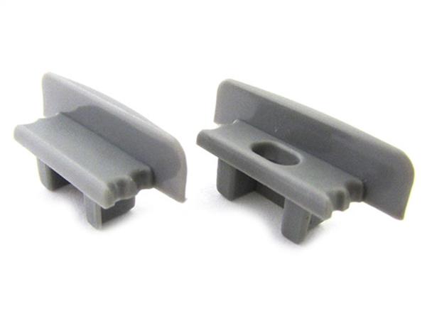 Coppia Tappi Tappini Termine Per Chiusure Profilo Barra Alluminio Da Incasso BA2507 - PAIO