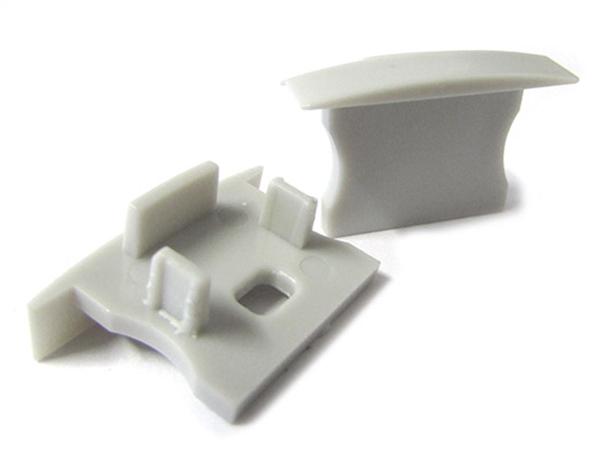 Coppia Tappi Tappini Termine Per Chiusure Profilo Canalina Barra Alluminio Da Incasso Cartongesso BA2620 BA2515 - PAIO