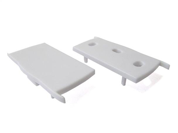 Coppia Tappi Tappini Termine Per Chiusure Profilo Alluminio Illuminazione 3 Direzione BA3001 - PAIO