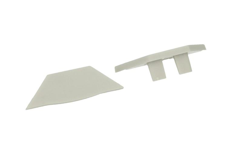 Coppia Tappi Tappini Termine Per Chiusure Profilato Alluminio Angolare Spesso Curva 45 Gradi BA3109 - PAIO