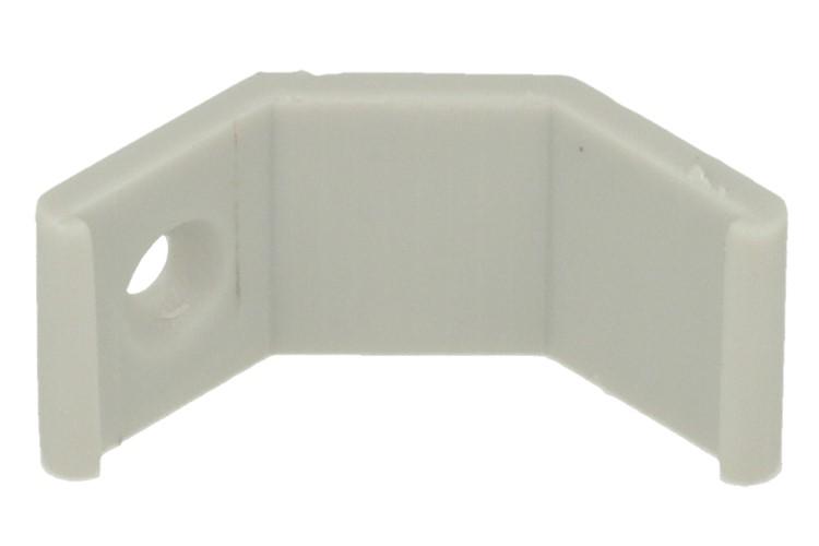 Clip Guida Gancio Plastica Per Fissaggio Profilato Alluminio Angolare Spesso Curva 45 Gradi BA3109 - PZ