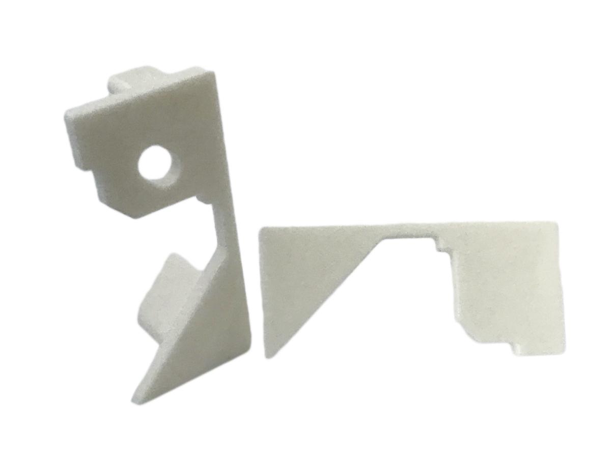 Coppia Tappi Tappini Termine Per Chiusure Profilato Alluminio Da Soffitto Luce Asimmetrica BA3315W - PAIO