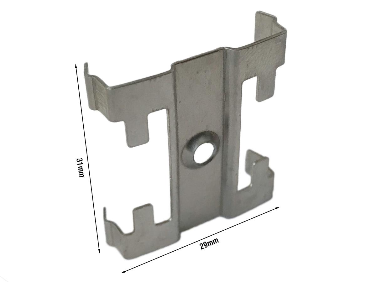 Clip Guida Gancio Metallo Per Fissaggio a Muro Del Profilato Alluminio Da Soffitto Luce Asimmetrica BA3315W - PZ