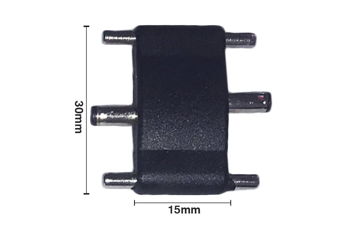 Giunto Lineare a I Connettore 3.5x1.35mm 12V DC Per Barra Led Sottopensile Cucina Armadio - PZ
