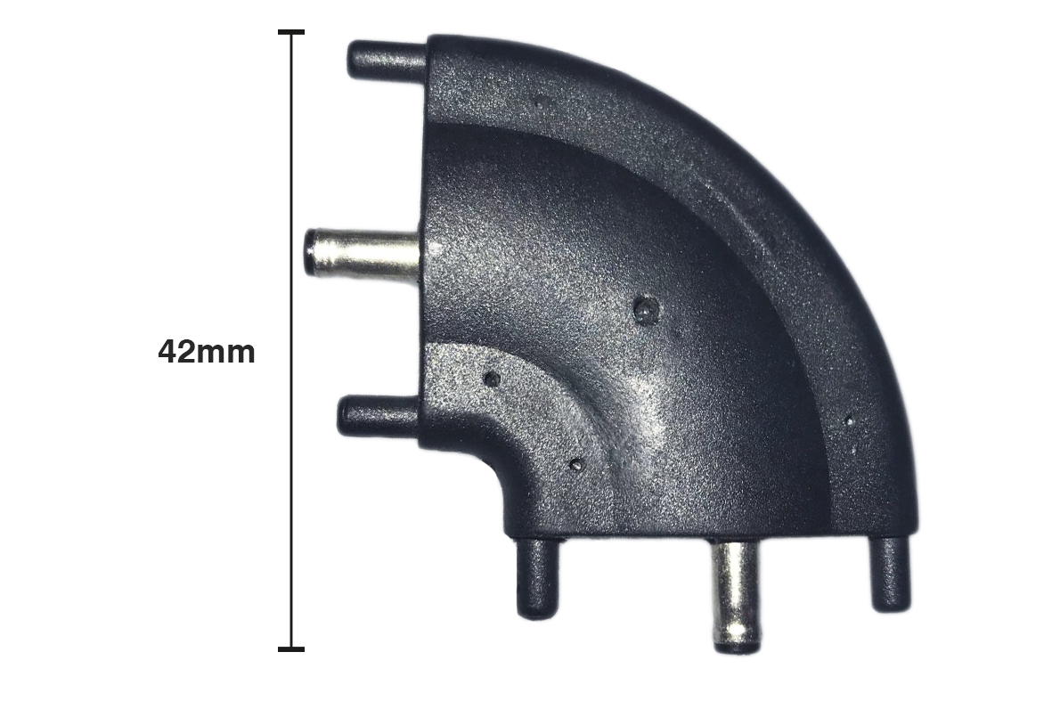 Giunto Angolare a L Connettore 3.5x1.35mm 12V DC Per Barra Led Sottopensile Cucina Armadio - PZ