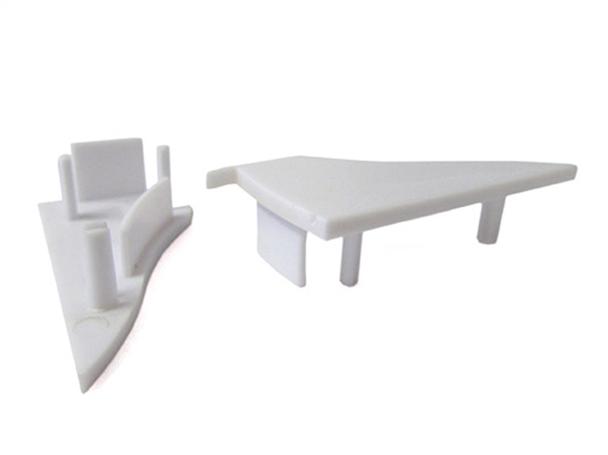 Coppia Tappi Tappini Termine Per Chiusure Profilo Alluminio Da Muro e Soffitto BA4001 - PAIO