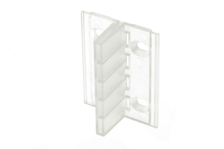 Clip Guida Gancio Lineare Plastica Per Fissaggio a Muro Parete Profilato Alluminio BA4420 - PZ