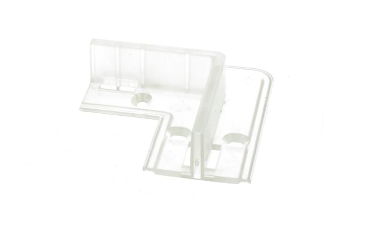 Clip Guida Gancio Plastica Forma L 90 Gradi Per Fissaggio a Muro Parete Del Profilato Alluminio BA4420 - PZ