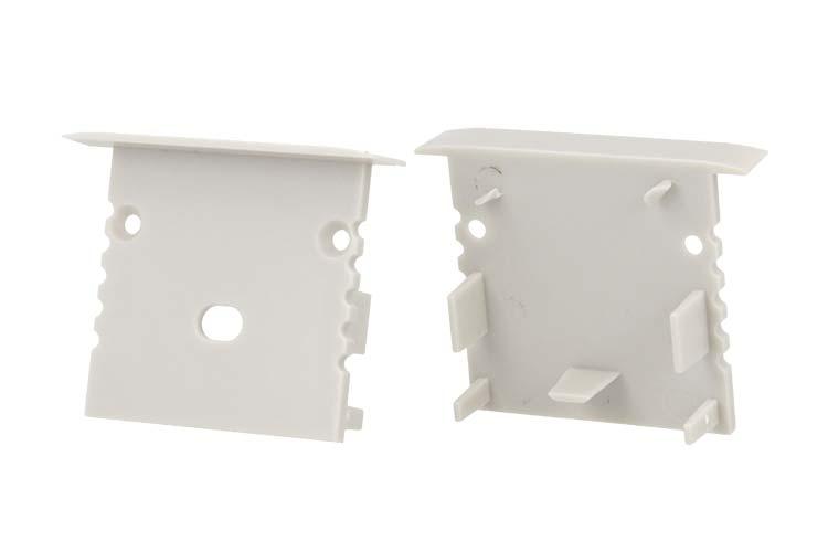 Coppia Tappini Termine Per Chiusure Del Profilo Alluminio BA4435 - PAIO
