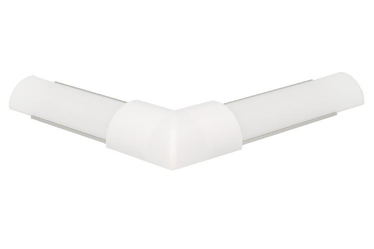 Connettore Angolare Per Angolo Esterno Per Profilo Alluminio Slim Angolare 45 Gradi BA1616 - PZ