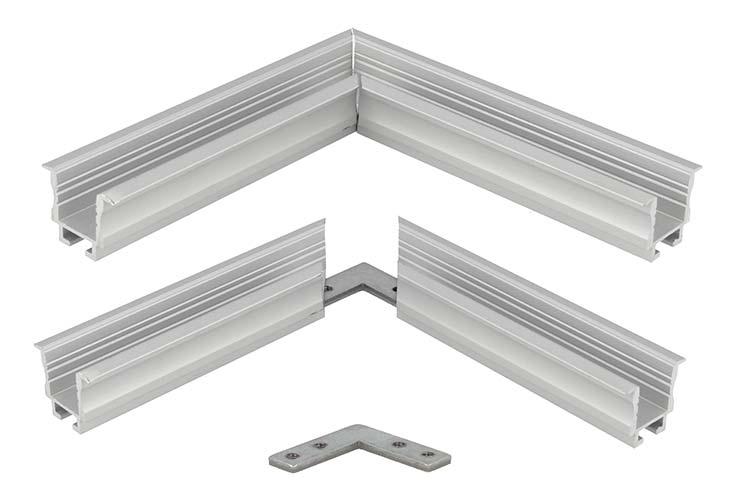 Connettore Angolare Per Profilo Alluminio BA2620 BA4435 BA5570 - PZ