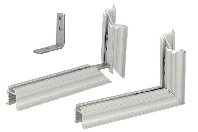 Connettore Angolare Verticale Per Profilo Alluminio BA2620 BA4435 BA5570 - PZ