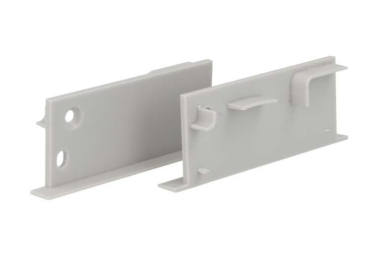 Coppia Tappi Tappini Termine Per Chiusure Profilo Alluminio Da Incasso A Muro Parete e Cartongesso BA5003 - PAIO