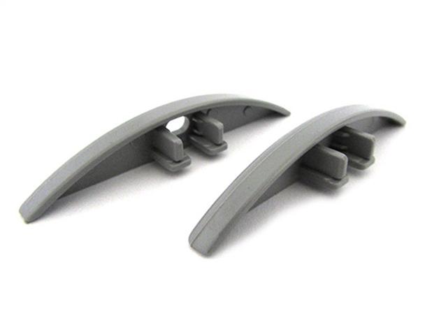 Coppia Tappi Tappini Termine Per Chiusure Profilo Barra Alluminio Da Pavimento BA5208 - PAIO