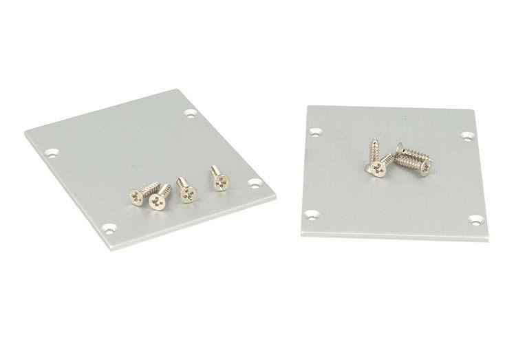 Coppia Tappi  Coperture Termine Per Chiusure Profilo Alluminio BA5570 - PAIO
