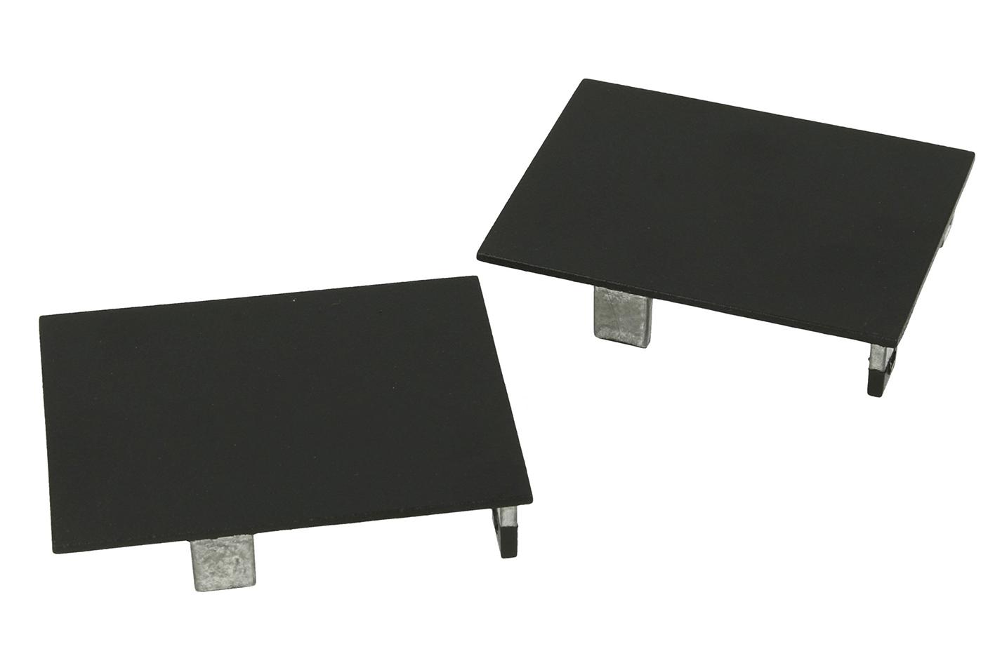 Coppia Tappi  Coperture Termine Colore Nero Per Chiusure Profilo Alluminio BA5570B - PAIO